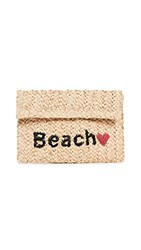 Hat Attack Beach Clutch Natural