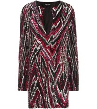 Tom Ford Sequin Embellished Mini Dress Metallic