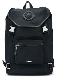 Versus Strap Fastening Backpack Black