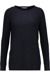 Autumn Cashmere Slit Sides Sweater Midnight Blue