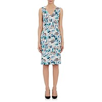 Philosophy Di Alberta Ferretti Women's Abstract Floral Fitted Dress Size 0 Us No Color