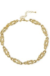 Noir Jewelry Gold Tone Necklace One Size