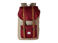 Herschel Little America Brindle Windsor Wine Tan Synthetic Leather Backpack Bags Red