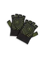 Gaiam Grippy Knit Fingerless Yoga Gloves