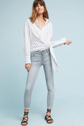 Anthropologie Dl1961 Florence Instasculpt Mid Rise Skinny Cropped Jeans Light Grey
