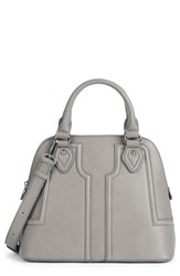 Sole Society Structured Faux Leather Dome Satchel Grey