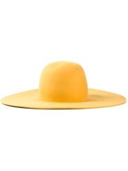Humanoid 'Creatie' Wide Brim Hat Yellow And Orange