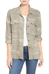 Rails Everett Camo Print Utility Jacket Green