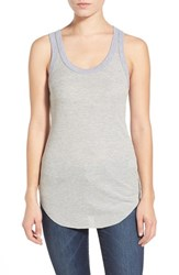 Women's Treasure And Bond Ribbed Racerback Tank Grey Heather