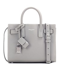 Saint Laurent Sac De Jour Nano Leather Tote Grey
