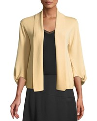 Donna Karan 3 4 Knotted Sleeve Open Front Cardigan Tan