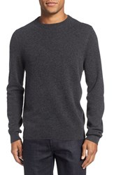 Nordstrom Men's Big And Tall Crewneck Cashmere Sweater Grey Dark Charcoal Heather