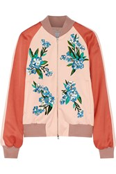 Jonathan Saunders Cecily Embroidered Crepe Bomber Jacket
