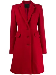 Pinko Single Breasted Coat Red