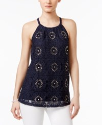 Inc International Concepts Embellished Halter Top Only At Macy's Deep Twilight
