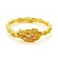 Chupi Forget Me Knot Ring In Gold