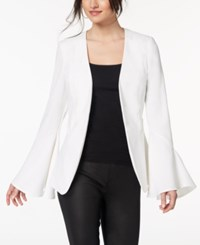 Xoxo Juniors' Bell Sleeve Blazer Cloud Dancer