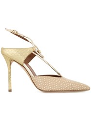 Malone Souliers Strappy Dotted Pumps Neutrals