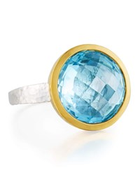 Gurhan Galapagos Bezel Ring In Blue Topaz
