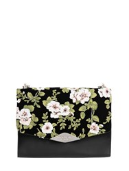 Rochas Palais Royal Floral Velvet And Leather Bag