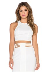 Aq Aq Dash Croptop White
