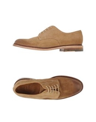 N.D.C. Made By Hand Lace Up Shoes Camel