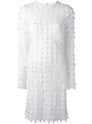 Carven Embroidered Dress White