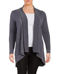 Marc New York Performance Open Front Knit Cardigan Grey