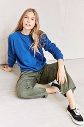 Urban Renewal Recycled Washed Soft Sweatshirt Blue