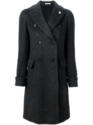 Lardini Double Breasted Coat Grey