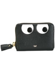 Anya Hindmarch Zip Around 'Eyes' Wallet Black