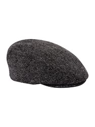 Failsworth Harris Tweed Flat Cap Grey