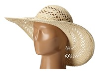 San Diego Hat Company Pbl3068 Open Weave Floppy Hat With Self Tie Natural Caps Beige