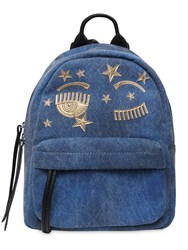 Chiara Ferragni Small Flirting Eye Denim Backpack