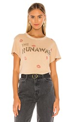 Junk Food Runaways Live In Japan Tee In Tan. Camel