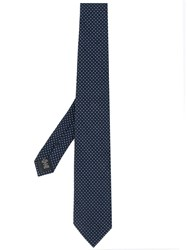 Z Zegna Polka Dot Patterned Tie Blue