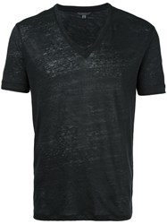 John Varvatos V Neck T Shirt Black