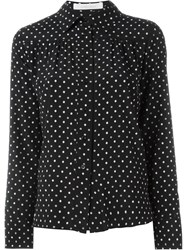 See By Chloa Small Flower Print Shirt Black