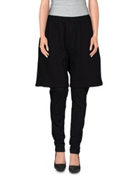 Minimal Casual Pants Black