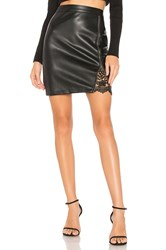 Cupcakes And Cashmere Kayson Faux Leather Skirt Black
