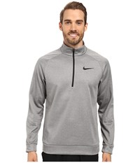 Nike Therma 1 4 Zip Pullover Carbon Heather Black Men's Clothing Gray
