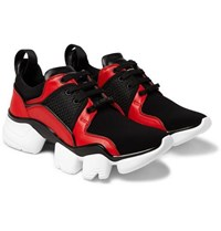 Givenchy Jaw Neoprene Leather And Mesh Sneakers Black