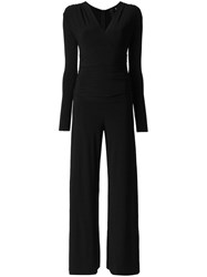 Norma Kamali V Neck Jumpsuit Black