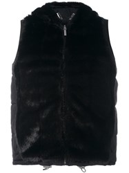 Michael Michael Kors Fur Effect Gilet Black