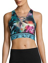 Nanette Lepore Orchid Printed Crop Top