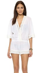 Eberjey Love Shack Evan Romper White