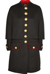Burberry Cape Back Wool And Cashmere Blend Coat Black