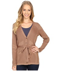 Pendleton Tonal Tides Cardigan Sandy Brown Aztec Women's Sweater Beige