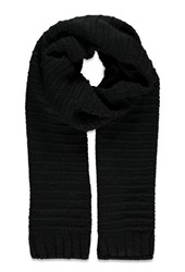 Forever 21 Textured Knit Scarf Black
