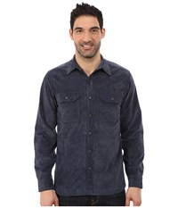 Royal Robbins Grid Cord Long Sleeve Shirt Deep Blue Men's Long Sleeve Button Up
